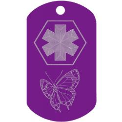 Medical Butterfly ID Tag